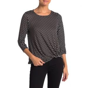 Como Vintage Side Twist 3/4 Sleeve T-Shirt
